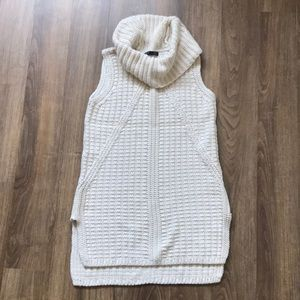 Banana Republic - cowl neck cream sweater vest